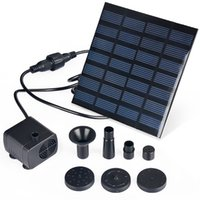 Wholesale 1pcs Solar Power Water Pump Garden plants Pool Pumps watering outdoor water Fountain