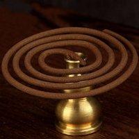 Wholesale Copper Brass Gourd Incense Sticks Burner Holder Metal Censer Stand Craft Seat Home Decor Buddhist supplies