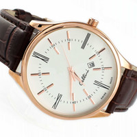 Wholesale 2016 Hot Roles Watches men Luxury brands Leather strap Sports gold role x watch Fashion Business clock Men Relogio Masculino marque