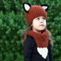 Cheap Boy Fox Hats Best Spring / Autumn Crochet Hats Animal Beanies