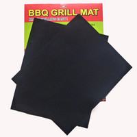 Wholesale Barbecue Grilling Liner Teflon BBQ Grill Mat Portable Non stick and Reusable Make Grilling Easy CM MM Black Oven Hotplate Mats DHL