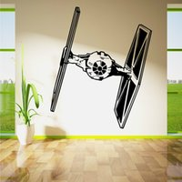 bedroom wall stencils - D573 STAR WARS TIE FIGHTER wall art living room removable decor vinyl sticker room decal movie stencil decor