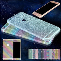 Wholesale For iphone plus Phone Sticker Full Body Diamond skin cover Glitter Bling Sticker Matte Screen Protector For iPhone S plus s