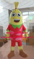 banger sausage - Toothsome Yellow Sausage Wurst Ham Banger Gammon Mascot Costume Cartoon Character Mascotte Gracile Eyebrows Thin Arms ZZ1461 FS