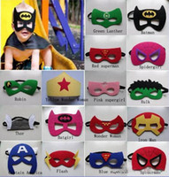 Wholesale 135 designs Superhero mask Batman Spiderman mask cosplay super hero mask star wars mask for kids Christmas Halloween Party truelovewangwu