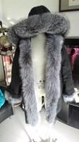 anorak parka - M44 Jacket parkas for women winter jacket long warm woman jackets anorak women coats with real fox fur hood parka