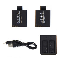 Wholesale 2pcs V mAh SJ4000 SJ5000 SJ6000 Battery Dual Battery Charger for SJCAM SJ Camera Accessories