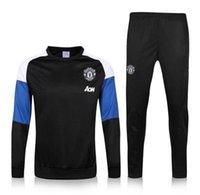 Wholesale 16 Survetement football tracksuit training suit kits Soccer training pants sweatershirt
