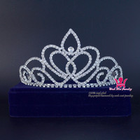 asian medium - Rhinestone Crowns Beauty Pageant Queen Medium Bridal Wedding Crystal Headband Princess Pretty Girls Party Show Prom Hairwear