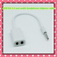 audio distributor - hot white general mm male female audio headset distributor Adpater cable