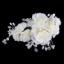 acrylic hair clip with pearl - 12PCS New Pink Wedding Bridal Hair Headpiece Accessories Jewelry Flower Clip with Exquisite Rhinestone and Pearl FlowerHair Women Evens