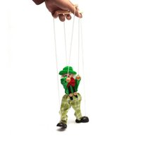 Cheap Wooden Marionette Pull Clown Toys Story Telling Helper Toy Hand Puppets for Kids Children Baby