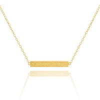 Pendant Necklaces jewellery - Bridesmaid Jewellery Gold Plated Stainless Steel Simple Fashion Women Necklace Slim Long Bar Chain Necklace Pendand N0030