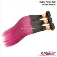 best black hair dyes - Best Ombre Body Wave Hair Extensions Brazilian Remy Hair Bundles Cheap Grade A Human Hair Wefts Black Purple Hair Weaves
