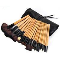bg case - Professional Makeup Brush Set Make up Toiletry Kit Wool Brand Make Up Brush Set Case Makeup Brushes Tools with Black Pouch Bag BG