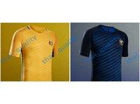 australia soccer - New Thailand Australia Cahill KENNEDY KRUSE Blue Bresciano Home Away Yellow Soccer Jersey Full Shirt