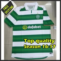 Wholesale 2016 Best Quality Celtic soccer shirts green AWAY black BROWN camiseta de foot custom shirt