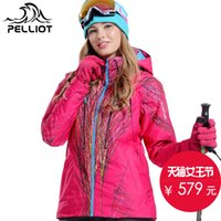 Wholesale Pelliot ski suit female winter thickening thermal outdoor waterproof breathable single skiing clothing