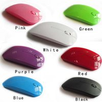 Wholesale 2016 NEW G Colorful Ultra Thin Optical Mouse For PC Laptop Notebook USB Adapter Wireless Mouse Keyboard Universal DHL