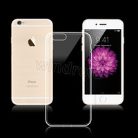 Wholesale For Iphone i7 plus SE Samsung S7 Edge TPU Case Ultra Thin mm Clear Iphone s Case Soft Transparent gel Back Opp Bag Cheapest