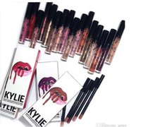 Wholesale 2016 colors New Kylie Jenner Lip Kit Gloss Lipstick Lipliner Velvet Boxset Matte Lipstick Waterproof Makeup Beauty