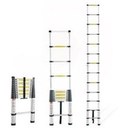 Wholesale Multi purpose Telescopic Ladder Portable Retractable Aluminum Alloy Straight Ladder Adjustable m Ladder