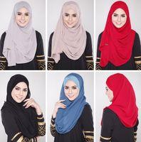 Wholesale 104 new fashion Muslim hijab veil wild basic models good shape exclusive shelf