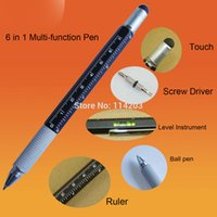 aluminium ruler - in Multifunction pen with Ball Pen Level Instrument Ruler and Screw Driver Aluminium Hexangular Ballpoint Pen Tool Ball Pens