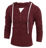 Wholesale Free Delivery Geek new boutique men s sweater Korean fashion Slim hooded pullover sweater hooded knit Hot