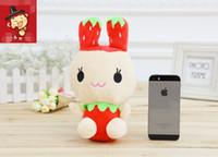 anime bunny girl - 18cm Cute Rabbits Plush Stuffed Bunny Soft Toys Strawberry Children Girls Kids Toys