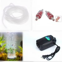 Wholesale 4 In1 Ultra Silent High Out Energy Efficient Aquarium Air Pump Fish Tank Oxygen AirPump With Air stone M Silicone Tube
