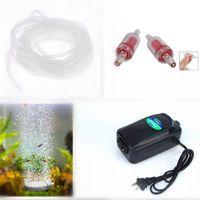 aquarium oxygen pump - 4 In1 Ultra Silent High Out Energy Efficient Aquarium Air Pump Fish Tank Oxygen AirPump With Air stone M Silicone Tube