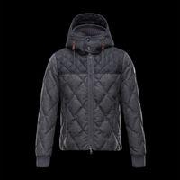 anorak pattern - Winter jacket men down jacket hood Bomber Male Coat Patchwork Windbreaker super light Parka Plus size anorak