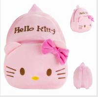 Wholesale 2016 new South Korean children schoolbag plush bag KT cat cute cartoon is nursery school backpack