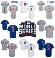 Wholesale 2016 World Series patch David Ross Jersey Chicago Cubs David Ross jerseys Men s Stitched Baseball jersey White Blue Grey