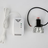 Wholesale AC V powered LPG LNG natural gas detector for home safe gas detector with shut off valve
