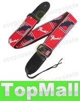 Wholesale LAI Guitar Accessories cm Width Colorful Printing Cotton Guitar Strap with Leather Ends for Guitar Player MIA_256
