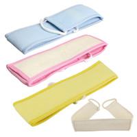 Wholesale Soft Natural Sponge Loofah Fiber Back Strap Bath Spa Exfoliator Scrubbe Bath Accessories
