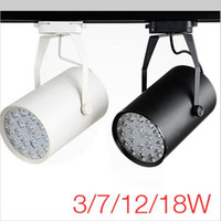 Wholesale High Power LED Track Light W W W W Track Rail Aluminum Spotlight Lamp for Commercial Store Office Home Lighting