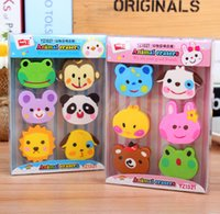 Wholesale F22 Box Kawaii Rubber Erasers Zoo Kid Gift School Supplies Student Stationery Correction