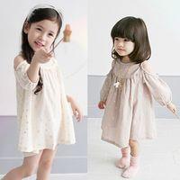 baby star sparkle - 2016 new summer baby girls sparkle star off shoulder princess dress toddler kids fashion cotton dresses
