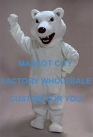 adult meaning - Mean Polar Bear Mascot Costume Adult Size Animal Theme White Bear Mascotte Mascota Outfit Suit Fancy Dress Cosply Costumes SW1094