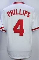 bench wear - MENS Cincinnati Reds PHILLIPS Stitched Baseball Jerseys discount Cheap HAMILTON Wear Athletic Outdoor BENCH Baseball Wear
