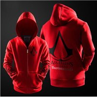 assasins creed clothing - Autumn Winter Assasins Creed Embroidery Fashion Outerwear Casual Men Hoodie Football mens Assassins Creed Clothing