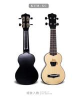 Nuevo KAKA KUM-XC de la marca de fábrica 17 que talla el instrumento de calidad superior de la guitarra acústica del Ukulele de la guitarra acústica de la gota de la gota Instrumentos musicales Principiante aplicable