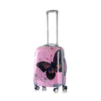 Wholesale The butterfly style ABS PC universal wheel luggage pull rod box The luggage