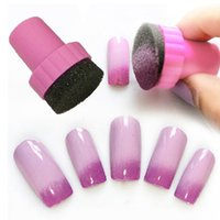 Wholesale Nail Art Makeup Styling tools Manicure Sponge Nail Art Stamper Tools with Sponge Nail For Gradient Color DHL free I201652702