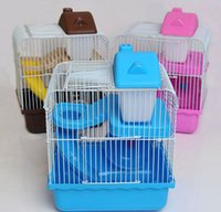 Wholesale Small Hamster Cages Small Animal Pet Rats House Habitats Hutches Storage Box Cage For Hamsters Mix Color Min Order