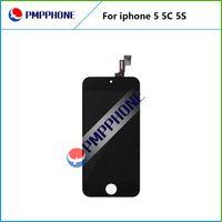 Meilleur AAA qualité pour iPhone 5 5S 5C écran LCD écran tactile numériseur assemblage pièces de rechange de réparation noir blanc Livraison gratuite
