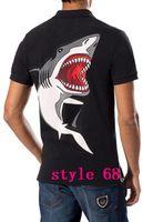 Wholesale 2016 new Shark pattern summer high quality brand men s tshirts black white cotton o neck short men s t shirts plus size BM064
